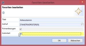 Version 1.9.5 des Clients für das trend-ERP-System – Autostartkennzeichen setzen