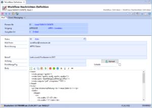 Workflow Nachrichtendefinition