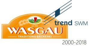 Logos Wasgau und trend SWM